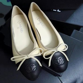 Chanel Summer Spring and Autumn Women Flats Fashion Boat Shoes Woman Casual Brand Single Shoes Navy blue G-ALS-XZ