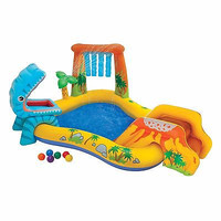 Intex Dinosaur Play Center Slide Sprinkler Playground Toddler Baby Party Fun New