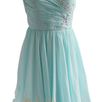 A-line Sequins Detail Short Chiffon Prom Dress Am133