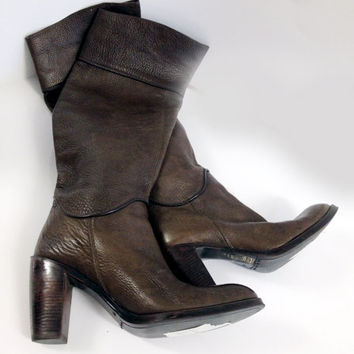 Brown Leather Boots (Small/Indie Brands)