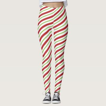 Christmas Stripes Leggings