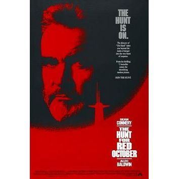 Hunt For Red October Movie poster Metal Sign Wall Art 8in x 12in