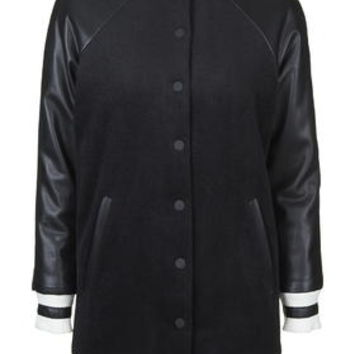 **Longline Bomber Jacket By Kendall + Kylie at Topshop - Black