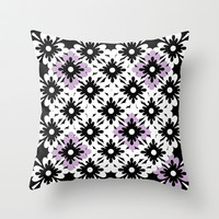 Lavender  Throw Pillow by Bethany Mallick