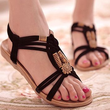 Women Shoes Sandals Comfort Sandals Summer Flip Flops 2017 Fashion High Quality Flat Sandals Gladiator Sandalias Mujer