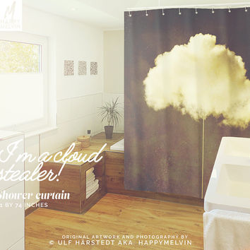 Im a cloud stealer  - Shower curtain - Bathroom decor - Home decor - Bohemian decor - Wanderlust theme - Nature decor - Curtains - Unique.