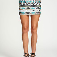Tribal Sequin Chiffon Skirt