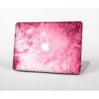 "The Grungy Pink Painted Swirl Pattern Skin Set for the Apple MacBook Pro 15"" with Retina Display"