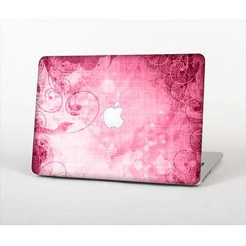 """The Grungy Pink Painted Swirl Pattern Skin Set for the Apple MacBook Air 13"""""""