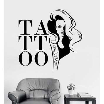 Vinyl Wall Decal Tattoo Salon Woman Girl Stickers Mural Unique Gift (ig3745)