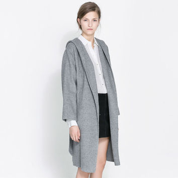 Wool Hats Windbreaker Coat Waistband [6407751684]