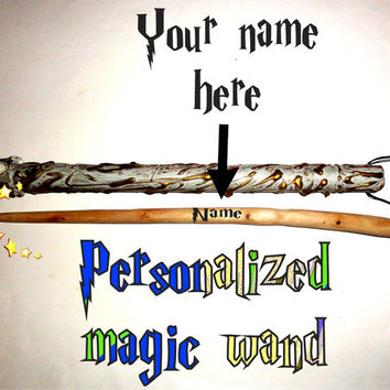 European Magic Wand, Personalized Magic Wand. Harry Potter Wand, Hermione Wand. Natural Custom Magic Wand With Quiver. Fairy Wizard Wand