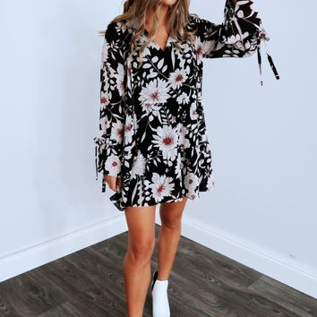 Down The Floral Path Dress: Multi