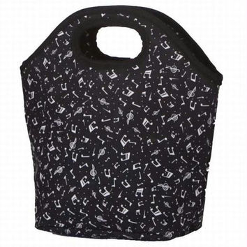 2 Lunch Bags - Allegro (music Print)