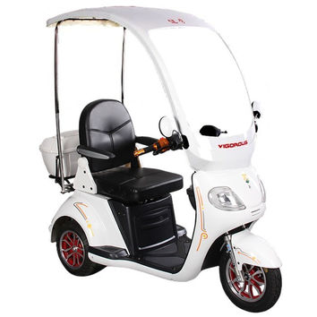 800 Watt 3 Wheel Electric Mobility Scooter - W/ Covered Wagon
