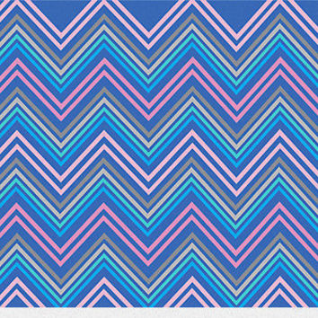 Periwinkle Blue Pink & Gray Chevron Abstract Pattern Canvas Print by Abstractdesigns- Canvas art, Home Decor, modern art, dorm room, decor