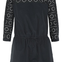 Madewell - Bistro broderie anglaise cotton-poplin playsuit