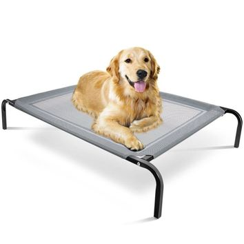 Elevated Dog Bed, Lounger, Sleep, Pet Cat Raised Cot, Hammock for Indoor Outdoor