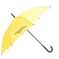 "Yellow Umbrella with ""Right Place - Right Time"" Logo From How I Met Your Mother"