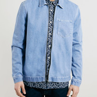 LTD LAUREL CANYON BLUE DENIM OVER SHIRT - Topman