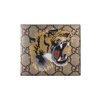Gucci Tiger print GG Supreme wallet