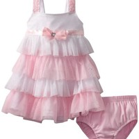Nannette Baby Girls' 2 Pieces Knit Dress And Panty, Pink, 18 Months