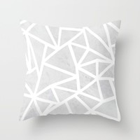 Ab Marble Zoom Throw Pillow by Project M