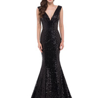 GK Latest Design Mermaid Lace up Sequin Evening Dress Gold,Black,Red,Blue Prom Dresses for Party Long Vestido Longo De Festa6052