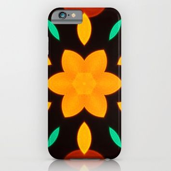 Orange Flower Kaleidoscope Pattern iPhone & iPod Case by PhotoVista360