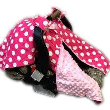 BayB Brand Car Seat Cover - Pink Polka Dot