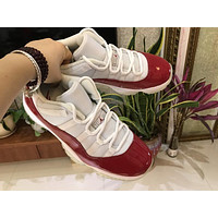 Air Jordan 11 Retro Low Red/White Shoe Size 36-47