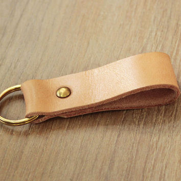 Leather Keychain Key Fob  leather keyholder Keychain leather keyfob  (MC-15)