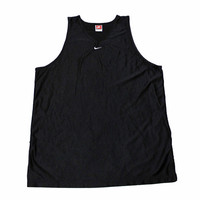 Vintage 90s Nike Black Polyester Tank Top Made in USA Mens Size Large