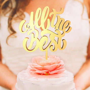 Wedding Cake Topper - All The Best (WCT00001)