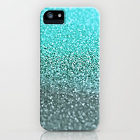 *** NEW GLITTER GATSBY TEAL  *** iPhone & iPod Case for iphone 5 + 4 + 3 + ipod touch + ipad + samsung galaxy by Monika Strigel