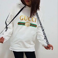 DCCKN7K Gucci Women Letter Hot Hoodie Cute Sweater