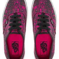 Vans Authentic Fuchsia Snake Lace Up Trainers at asos.com
