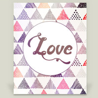 Love - Pastel Triangle Art Print by indulgemyhearti on BoomBoomPrints