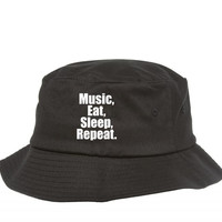 music eat sleep repeat 3 Bucket Hat