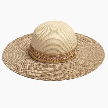 Two Tone Floppy Sun Hat - Natural