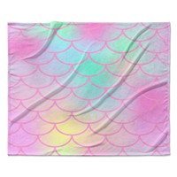 Rainbow Mermaid Scales Baby Childrens Fleece Blanket