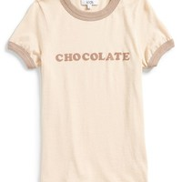 Girl's Wildfox 'Chocolate Vintage Ringer' Graphic Tee,