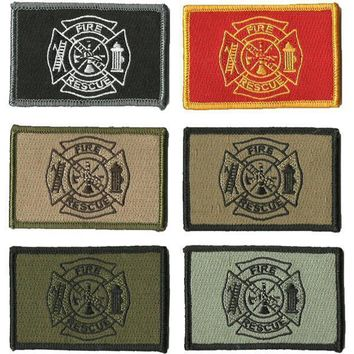 """BuckUp Tactical Morale Patch Hook FD Fire Fighter Department Seal Patches 3x2"""""""