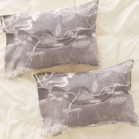 Emanuela Carratoni For DENY Grey Marble Pillowcase Set - Urban Outfitters