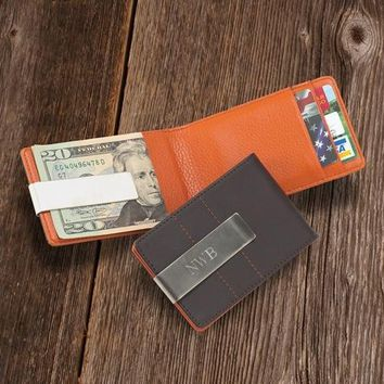 Metro Leather Wallet/Money Clip Free Engraving
