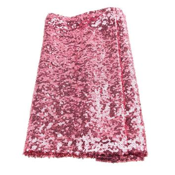Sparkling Sequins Fabric Table Runner, 14-Inch x 108-Inch, Pink
