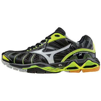 Mizuno Wave Tornado X Womens - Black Neon Yellow