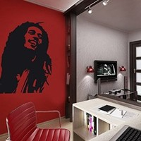 Wall Decal Vinyl Sticker Man Bob Marley Jamaica Dorm Bedroom Living Room B184