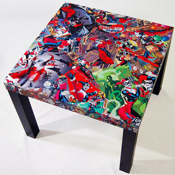Shop comic table on wanelo for Harley quinn bedroom ideas