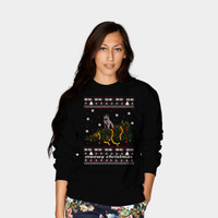Meowy Christmas Cat Ugly Christmas Sweater Sweatshirt By FandomizedRose Design By Humans